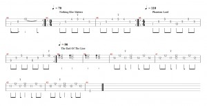 bass solo metallica clean riffs bass tab 2