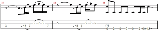 Fade to Black bass tab fills