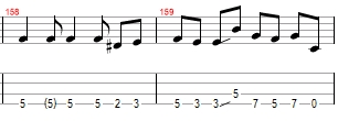 fade to black bass tabs fills