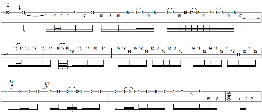Guitar u00bb Metallica One Guitar Tabs - Music Sheets, Tablature, Chords and Lyrics