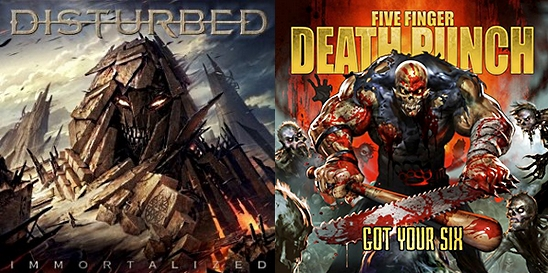disturbed immortalized five finger death punch got your six album review 2015