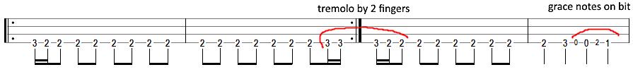 metallica escape bass tab