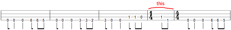 metallica battery bass tab