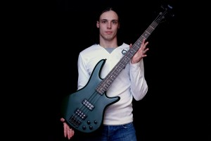Andriy Vasylenko learning bass guitar
