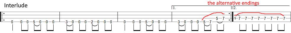 metallica disposable heroes interlude bass tab