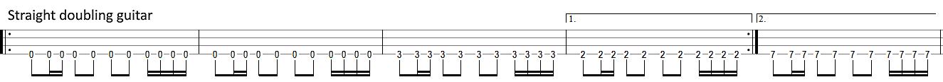 metallica disposable heroes main riff doubling guitar bass tab