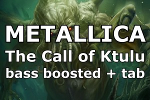 Metallica The Call of Ktulu bass track enhanced + tab AndriyVasylenko.com