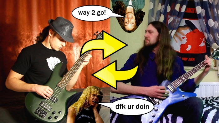 NEW TABS AVAILABLE: Metallica guitar riffs played on bass