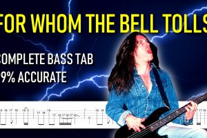 For Whom the Bell Tolls FULL bass tab + isolated track of Cliff Butron
