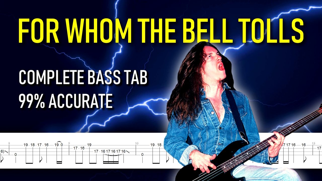 For Whom the Bell Tolls FULL bass tab #TotalCliff