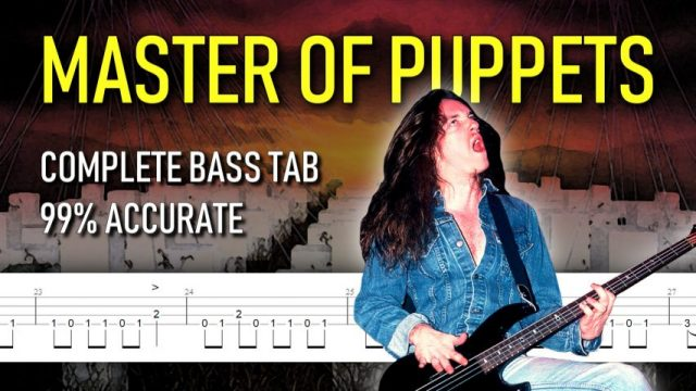 Master of Puppets bass tab (fixed) #TotalCliff